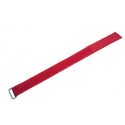 Sewed Velcro Band - 2 / 25 cm RED