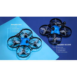 Mini Dron FPV Beta85X HD 2-4s BetaFPV FrSky
