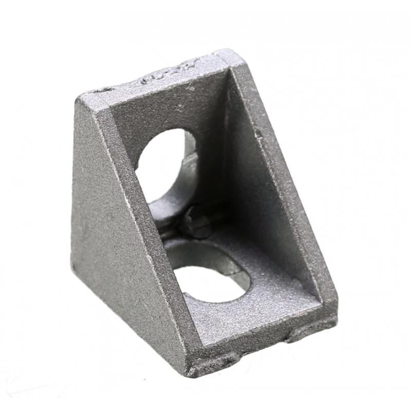 Durable Silver Aluminum 2020 Corner Bracket 20x20x17mm Solid Cast For 20mm Extrusion CNC